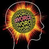 Σύνδρομο διαζυγίου κλονισμού διανυσματική απεικόνιση
