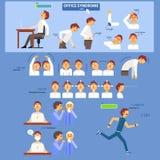 Σύνδρομο Infographics γραφείων διανυσματική απεικόνιση