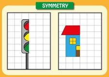 Σύρετε το άλλο μισό του κάθε συμμετρικές εικόνες Στοκ εικόνα με δικαίωμα ελεύθερης χρήσης