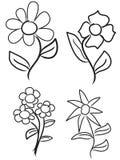 σύρετε το χέρι λουλουδιών Στοκ Φωτογραφίες