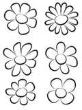 σύρετε το χέρι λουλουδιών Στοκ Εικόνες