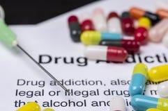 σύριγγα εστίασης φαρμάκων εθισμού Στοκ Εικόνες