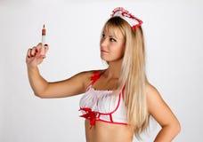 σύριγγα νοσοκόμων Στοκ εικόνες με δικαίωμα ελεύθερης χρήσης