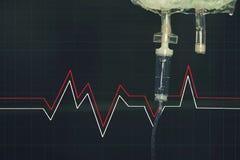 Σύριγγα φλεβών στο νοσοκομείο στοκ εικόνες