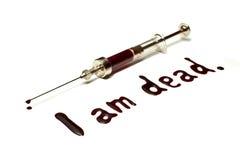 σύριγγα HIV Στοκ φωτογραφία με δικαίωμα ελεύθερης χρήσης