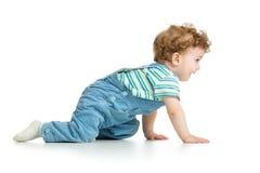 σύρσιμο μωρών η ανασκόπηση απομόνωσε το λευκό στοκ εικόνες