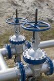 Σύρτης πετρελαίου στη σωλήνωση στοκ εικόνες