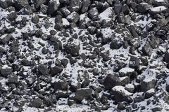 σύσταση άνθρακα χιόνι στον άνθρακα Στοκ εικόνες με δικαίωμα ελεύθερης χρήσης