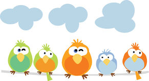 Σύσταση ή υπόβαθρο τουβλότοιχος πουλιών Διανυσματική απεικόνιση