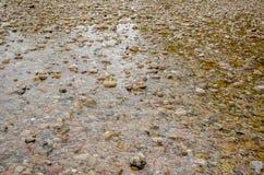 Σύσταση αμμοχάλικου και νερού Στοκ εικόνα με δικαίωμα ελεύθερης χρήσης