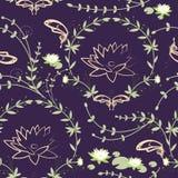 Σύσταση ανθοδεσμών και πεταλούδων λουλουδιών Lotus Στοκ εικόνες με δικαίωμα ελεύθερης χρήσης