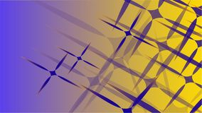 Σύσταση από διαφανή μπλε αφηρημένο ογκομετρικό μοντέρνο το μαγικό των διάφορων μορφών των ελαφριών κοσμικών χαρασμένων αστεριών α Στοκ Εικόνες