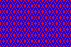 Σύσταση από τα κόκκινα rhombs στο μπλε υπόβαθρο απεικόνιση αποθεμάτων