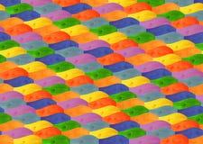 Σύσταση από τους ξύλινους πολύχρωμους λογαριασμένους κυματιστούς πίνακες Στοκ φωτογραφία με δικαίωμα ελεύθερης χρήσης