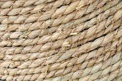 σύσταση αχύρου σχοινιών Στοκ Φωτογραφίες