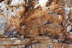 Σύσταση βράχου βουνών υποβάθρου Πέτρινη κινηματογράφηση σε πρώτο πλάνο βουνών Στοκ Φωτογραφία