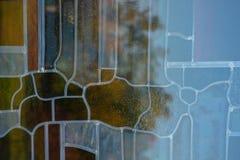 Σύσταση γυαλιού Riffled Υπόβαθρο Εκλεκτική εστίαση στοκ εικόνα