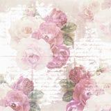 Σύσταση εγγράφου λουλουδιών λευκώματος αποκομμάτων Στοκ Φωτογραφία