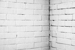 Σύσταση ενός άσπρου τοίχου με τα τούβλα Στοκ Φωτογραφίες