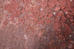 Σύσταση ενός κόκκινου τοίχου σιδήρου στοκ εικόνες με δικαίωμα ελεύθερης χρήσης