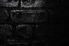 Σύσταση ενός μαύρου τουβλότοιχος Στοκ Φωτογραφία