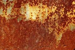 Σύσταση ενός παλαιού οξυδωμένου φύλλου σιδήρου μετάλλων Σκηνικό σύστασης σκουριάς Στοκ εικόνα με δικαίωμα ελεύθερης χρήσης