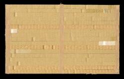 σύσταση ζαρωμένο χαρτόνι, ο συνδυασμένος σωρός στο σωρό πλαισίου Στοκ Εικόνες