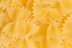 Σύσταση ζυμαρικών δεσμών τόξων, farfalle tipical ιταλικά τρόφιμα Στοκ Εικόνες