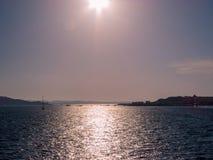 Σύσταση θάλασσας στο ηλιοβασίλεμα Στοκ Φωτογραφίες
