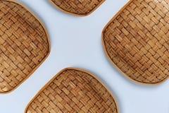 Σύσταση και σχέδιο καλαθιών ύφανσης μπαμπού στοκ φωτογραφίες με δικαίωμα ελεύθερης χρήσης