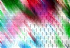 Σύσταση και υπόβαθρο μορφών τούβλου στις ζωηρόχρωμες γραμμές Στοκ Εικόνα