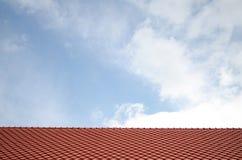 Σύσταση κατασκευής το κεραμίδι στεγών του σχεδίου Backgrou σπιτιών Στοκ Φωτογραφία