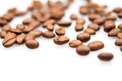 σύσταση καφέ φασολιών ανασκόπησης Στοκ Φωτογραφία