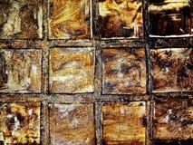 Σύσταση, καφετής χρυσός τετραγώνων Στοκ φωτογραφία με δικαίωμα ελεύθερης χρήσης