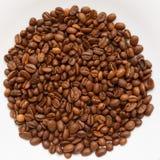 Σύσταση κύκλων φασολιών καφέ που απομονώνεται Στοκ Φωτογραφία