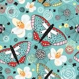 σύσταση λουλουδιών πεταλούδων Στοκ Εικόνες