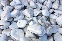 Σύσταση: μεγάλο στρωμένο με άμμο αμμοχάλικο Μικρές άσπρες πέτρες κιμωλίας Καλλιτεχνικές ανακουφίσεις από τα φυσικά αντικείμενα Στοκ εικόνες με δικαίωμα ελεύθερης χρήσης