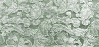 Σύσταση μπροκάρ με τα floral στοιχεία Στοκ Φωτογραφίες