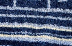 Σύσταση μπλε Terrycloth με τα λωρίδες στοκ φωτογραφία