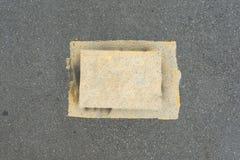 Σύσταση οδικού υποβάθρου ασφάλτου του tarmac, τοπ άποψη στοκ εικόνες με δικαίωμα ελεύθερης χρήσης