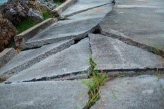Σύσταση οδικών ρωγμών υποβάθρου οικοδόμησης με το διάστημα αντιγράφων εικόνα FO Στοκ Φωτογραφίες