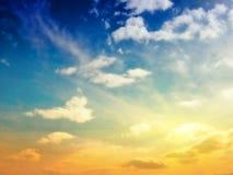 σύσταση ουρανού ουρανών βραδιού Στοκ Εικόνα