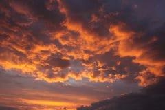 σύσταση ουρανού ουρανών βραδιού Στοκ εικόνα με δικαίωμα ελεύθερης χρήσης