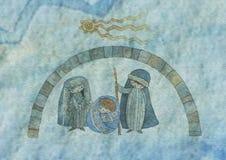 σύσταση παχνιών Χριστουγέν Στοκ φωτογραφία με δικαίωμα ελεύθερης χρήσης
