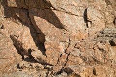 σύσταση πετρών βράχου βρύου clif στη Μεσόγειο της Ισπανίας Στοκ Φωτογραφίες