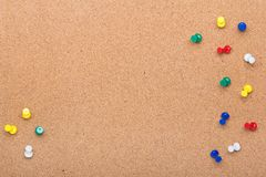 Σύσταση πινάκων καρφιτσών για το υπόβαθρο και το ζωηρόχρωμο πλαίσιο καρφιτσών Στοκ εικόνες με δικαίωμα ελεύθερης χρήσης