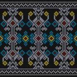 Σύσταση πουλόβερ Sumba, παραδοσιακό σχέδιο της Ινδονησίας Άνευ ραφής χρώμα σχεδίων πλεξίματος διανυσματική απεικόνιση