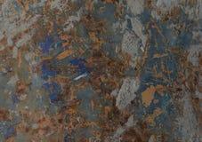 Σύσταση σκουριάς ως παλαιό υπόβαθρο πιάτων σιδήρου σκουριάς μετάλλων Στοκ Φωτογραφία