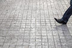 Σύσταση συγκεκριμένων πεζοδρομίων Στοκ εικόνα με δικαίωμα ελεύθερης χρήσης