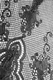 Σύσταση, σχέδιο Το ύφασμα δαντελλών είναι γκρίζο, γραπτός άθλος Στοκ Εικόνα